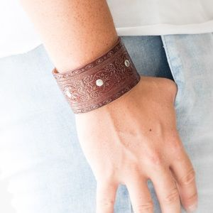👢 Boots and Broncos Brown Urban Bracelet